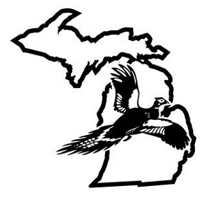 Michigan Pheasant Hunting Decal Sticker