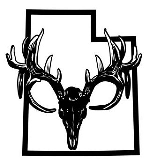 Utah Deer Skull Decal Sticker