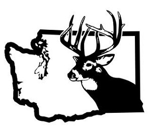 Washington Deer Hunting Decal Sticker