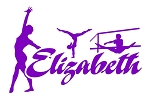 Personalized Gymnast Name Decal Sticker