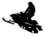 Snowmobile Silhouette v4 Decal Sticker