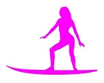 Surfer Girl Silhouette v5 Decal Sticker