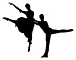 2 Dancers Silhouette v2 Decal Sticker