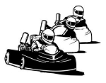 3 Go Karts Racing v2 Decal Sticker
