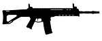 ACR Machine Gun Silhouette v2 Decal Sticker