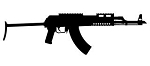 AK47 Silhouette v2 Decal Sticker