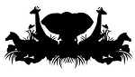 African Wildlife Silhouette Decal Sticker
