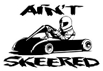 Ain't Skeered Go Kart Decal Sticker