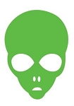 Alien Head Decal Sticker