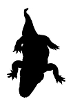 Alligator Silhouette v1 Decal Sticker