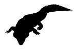 Alligator Silhouette v4 Decal Sticker