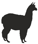 Alpaca Silhouette Decal Sticker