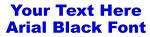 Arial Black Font Decal Sticker