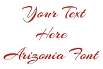 Arizonia Font Decal Sticker