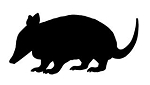 Armadillo Silhouette v1  Decal Sticker