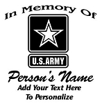 Army Memorial Decal Sticker