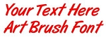 Art Brush Font Decal Sticker
