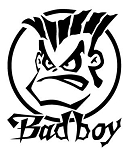 Bad Boy Circle Decal Sticker