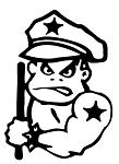 Bad Boy Cop Decal Sticker