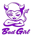 Bad Girl v2 Decal Sticker