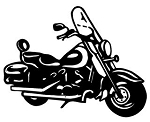 Bagger Motorcycle Decal Sticker
