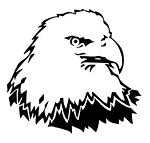 Bald Eagle Head v7 Decal Sticker