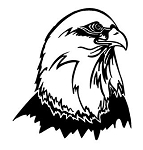 Bald Eagle Head v9 Decal Sticker