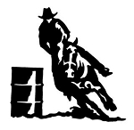 Barrel Racer v3 Decal Sticker