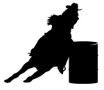 Barrel Racer Silhouette v3 Decal Sticker
