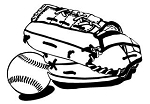 Baseball Glove and Ball Decal Sticker