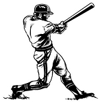 Baseball Hitter v1 Decal Sticker