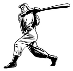 Baseball Hitter v6 Decal Sticker