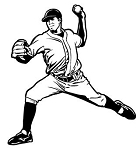 Baseball Pitcher v3 Decal Sticker