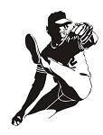 Baseball Pitcher v5 Decal Sticker