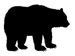 Bear Silhouette v2  Decal Sticker