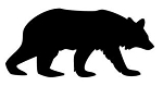 Bear Silhouette v3  Decal Sticker