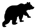 Bear Silhouette v7 Decal Sticker