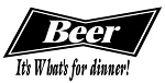 Beer It's Whats for Dinner Decal Sticker
