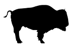 Bison Silhouette  Decal Sticker