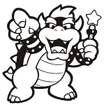 Bowser v2 Decal Sticker