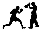 Boxing Silhouette v10 Decal Sticker