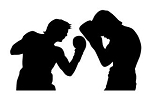 Boxing Silhouette v3 Decal Sticker
