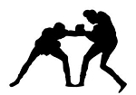Boxing Silhouette v7 Decal Sticker