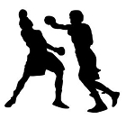 Boxing Silhouette v8 Decal Sticker