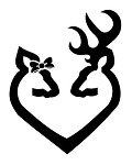 Doe and Buck Heart Design v5 Decal Sticker
