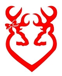 Deer Heart Design v6 Decal Sticker