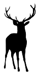 Buck Deer Silhouette Decal Sticker