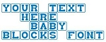 Baby Blocks Font Decal Sticker
