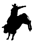 Bull Rider Silhouette v2 Decal Sticker