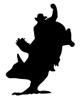 Bull Rider Silhouette v4 Decal Sticker